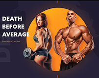 Fitness Mobile app. landing page