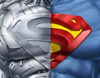 Superman-Cyborg Torso