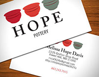 Hope Pottery Business Card