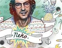 illustration, portrait, Neko