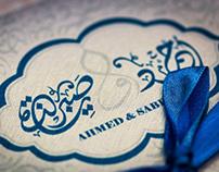 Calligraphy for wedding