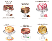 Lals Cake Menu Illustrations