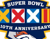 Denver Broncos Super Bowl anniversary logo