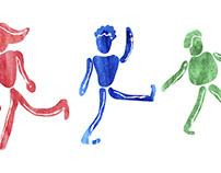 Dancing watercolors