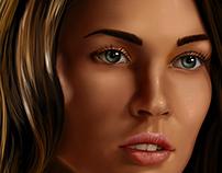 Ilustração Megan Fox