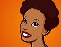 Paulette Animation World Logo Illustration