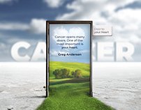 Photo Manipulation- Cancer Quote: Door to your Heart