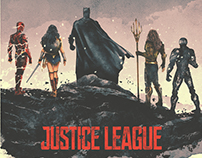 Justice League Illustrated Poster