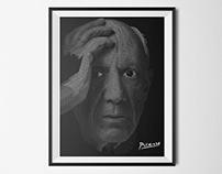 Picasso Typography Portrait