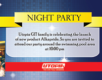 Night party invitation