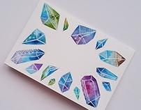 Watercolour Galaxy Diamonds - Handmade greeting cards