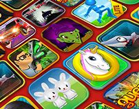 iOS game icons design
