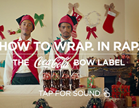 COKE CHRISTMAS BOW LABEL