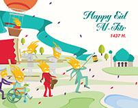 Eid Al-Fitr Greeting Card Concept