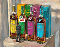 Fashion Illustration for The Macallan