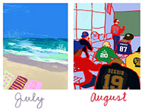 Boston Sports Fan Calendar