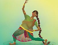 Indian dancer - character design