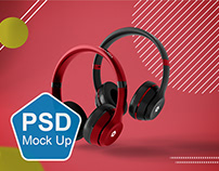 Abstract Headphones Mockup