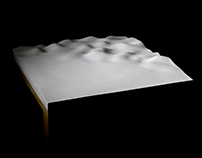 Concrete Ripple Table