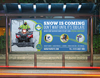 Snow Removal Service Billboard Template