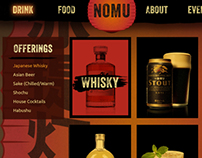Nomu Izakaya // Japanese Whisky Bar Website