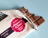 Wedding Invitations On Chocolate Bars Behance