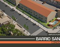 Carteleria y folleteria : Barrio Santa Luisa