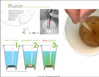 'TFusion' paper tea infuser