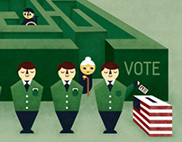 Voter ID Editorial Illustration