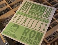 Ron Swanson Letterpress Posters