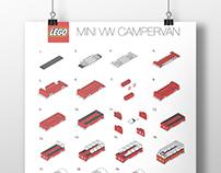 Lego VV campervan poster