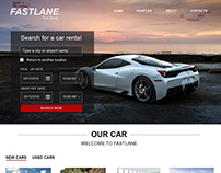 Car rent website design