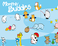 Monthly Buddies - 2013 calendar