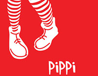 Book Cover Design for Pippi Longstocking