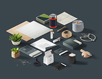 Perspective corporate Identity Mockup - free psd