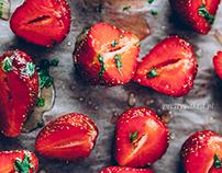 Coconut quinoa with strawberries