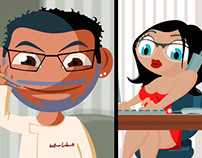 Gallery restaurant advertising flash cartoon