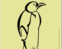 Typography Animal - Penguin