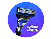 Gillette mobile landing page