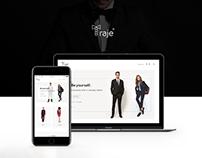 Traje - e commerce website
