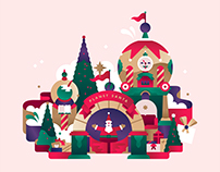 STC - Christmas campaign illustrations