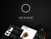 Newsine - News and Magazine App template