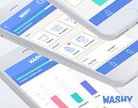 App concept - IU UX DESIGN. - material design - Washy