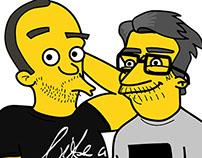 Portuguese Simpsons: Nuno Markl and Rui Unas