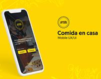 Comida en casa Mobile UX/UI