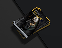 Stack of Posters Mockup Free