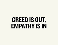 greed is out, empathy is in