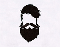 QUIRKY BEARDED HIPSTER MAN EMBROIDERY DESIGN