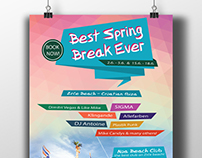 POSTER DESIGN for Spring Break Island