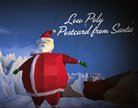 Low Poly Postcard from Santa